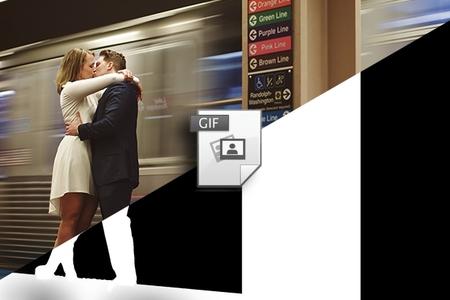 Svadba a ine fotografie v GIF-animácii