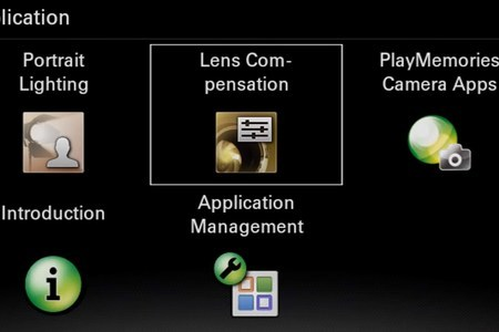 "PlayMemories Camera Apps ""Lens Compensation"""