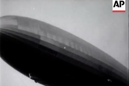 Hindenburg Disaster - real footage of the terrible crash 1937