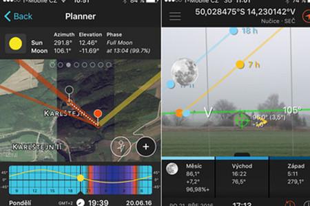 Aplikace pro plánování krajinářské fotografie