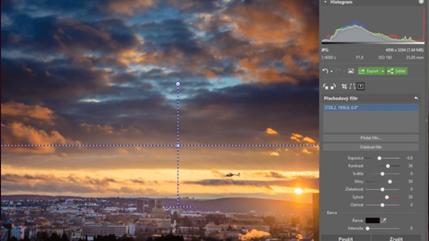 Ako používať prechodový filter pri úprave fotografií