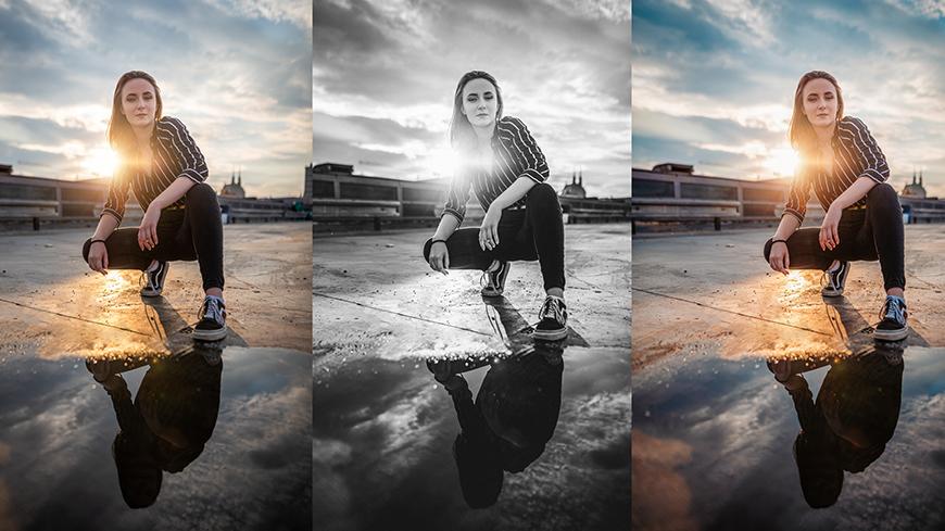 Varianty: vytvorte rôzne verzie úprav jednej fotky