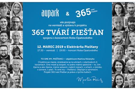 Výstavu 365 tvárí Piešťan otvorí koncert Roba Opatovského