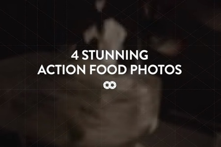 4 stunning action food photos