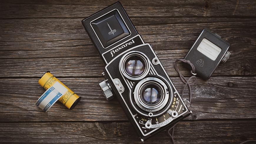 Fotoaparát zo skrine