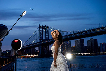 Kompaktné LED svetlo vo fotografii