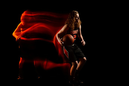 Behind the Scenes of my mixed light basketball portraits