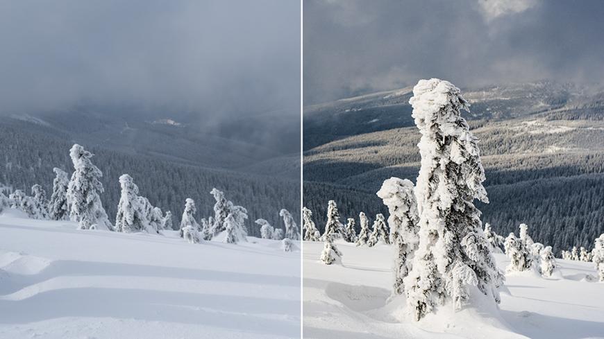 Dodajte šmrnc zimným fotkám
