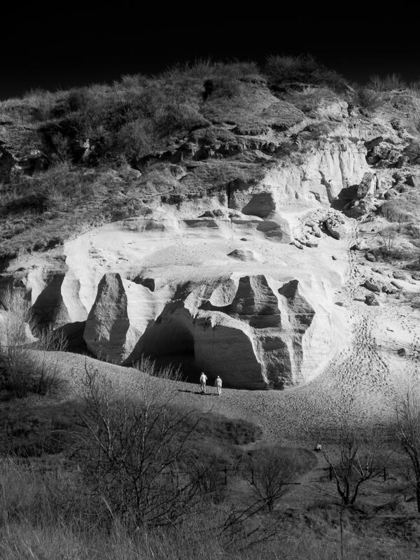 Sandberg. paleontologické nálezisko odhalené pri ťažbe piesku