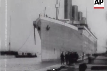 The Titanic Disaster - genuine footage at Belfast Lough