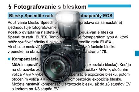 Blesky a fotoaparáty Canon EOS R a M