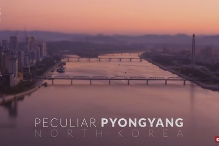 Pecuilar Pyongyang - North Korea (DPRK) 4k -Time lapse -Tilt