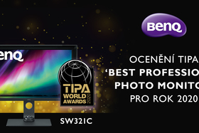 """""""Nejlepší profesionální monitor pro fotografy 2020"""" získal BenQ SW321C"""