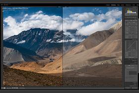 Adobe Lightroom CC - šedý prechodový filter