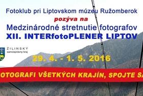 Medzinárodné stretnutie fotografov  - XII. INTERfotoPLENER LIPTOV