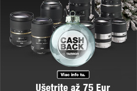 Akcia Tamron Cash Back Vianoce 2015