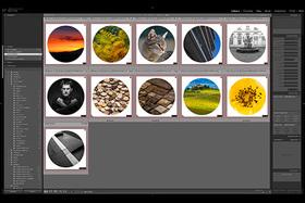 Adobe Lightroom CC - kruhový rámik