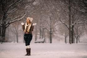 Portrét na snehu