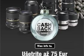 Tamron akcia Cash Back Vianoce 2016