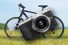 S fotoaparátom na bicykli