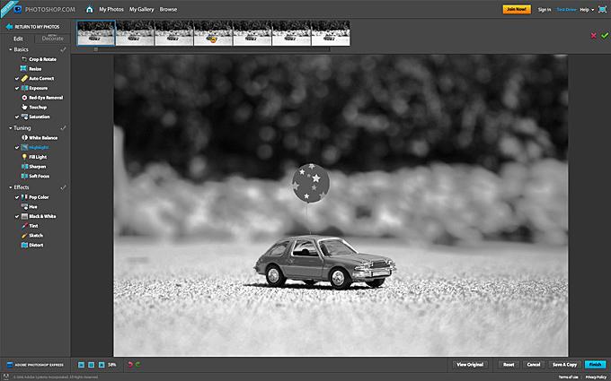 Online editácia fotografií